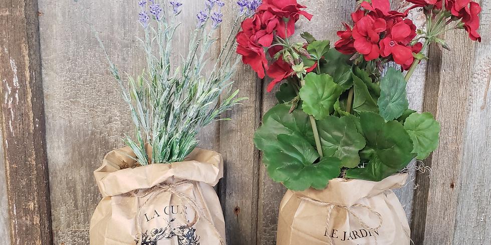 Paper Bag Floral Topiary