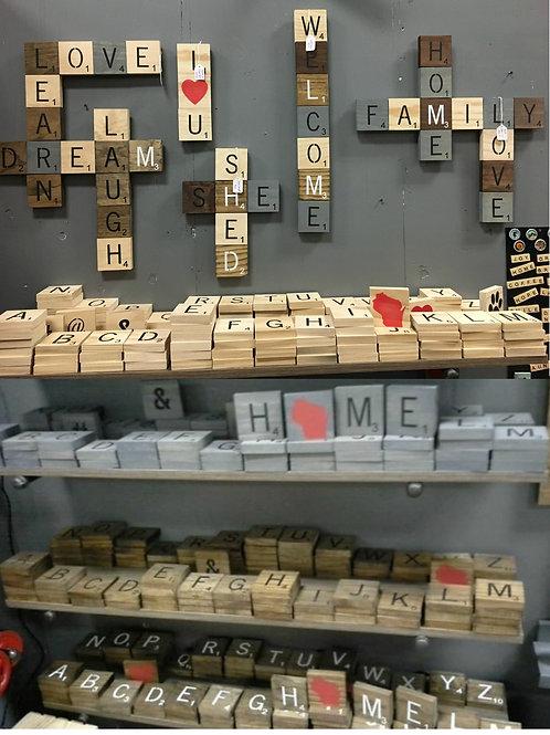 3x3 Scrabble tile