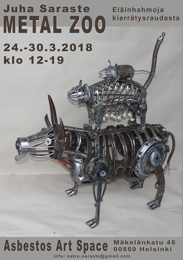 Juha Saraste: Metal Zoo 23.3-30.3.2018