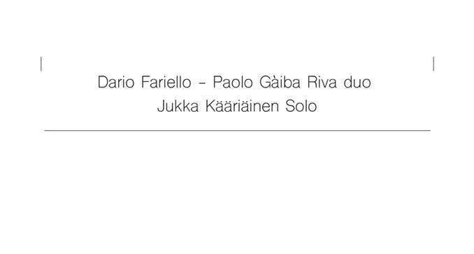 Dario Fariello ja Paolo Gàiba Riva duo // Jukka Kääriäinen 5.2.2018