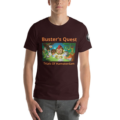 Buster's Quest with IRS Logo on Sleeve