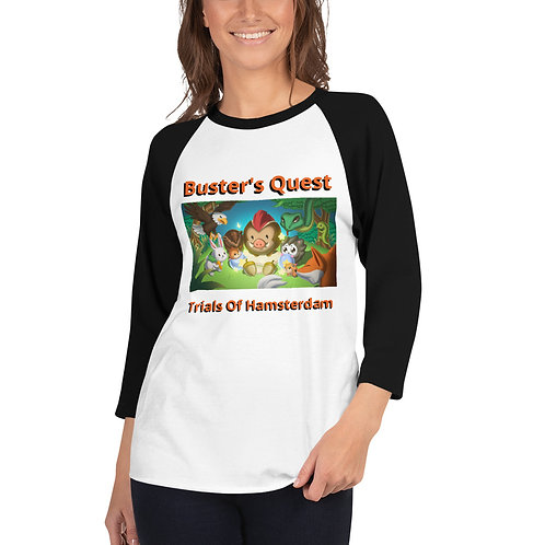 3/4 sleeve Buster's Quest Shirt