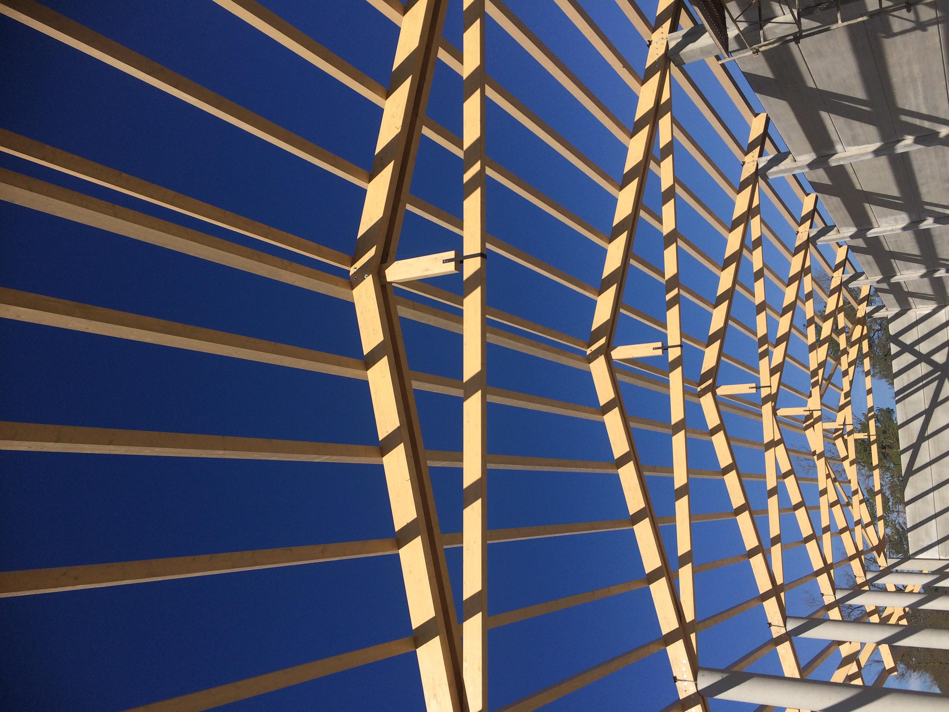 Estructura coberta paller