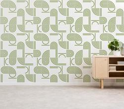 Painel Bauhaus cor verde militar