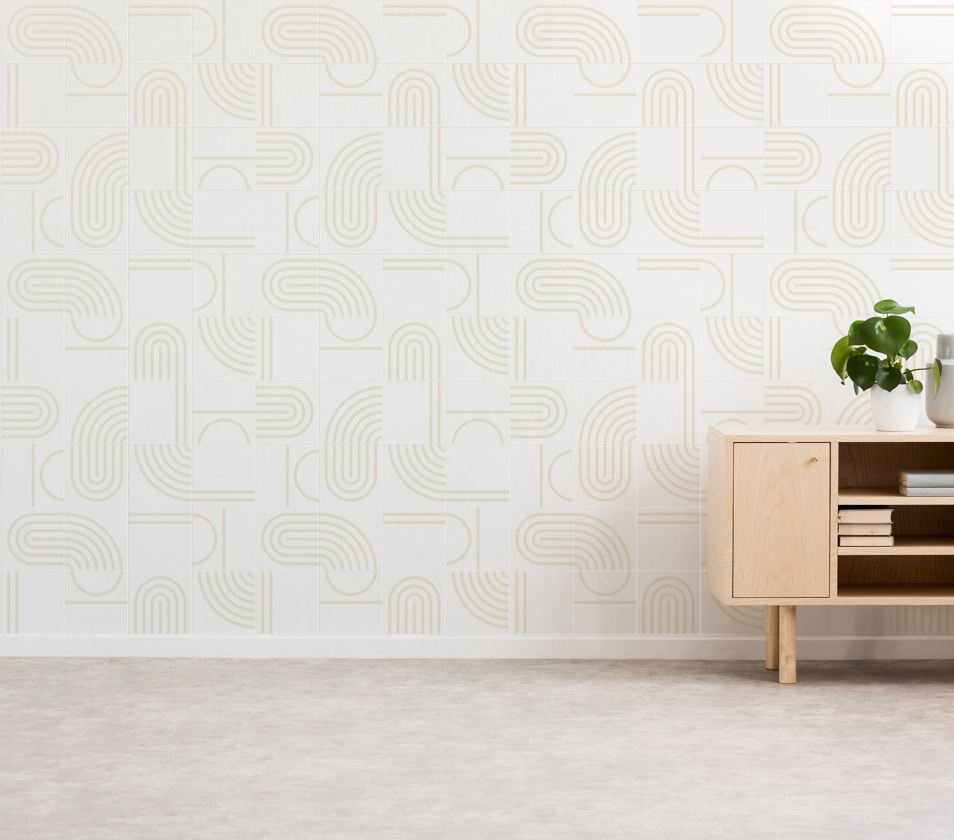Painel Bauhaus cor areia