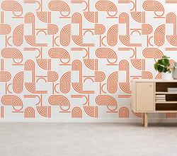 Painel Bauhaus cor coral