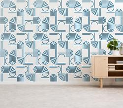 Painel Bauhaus cor azul mar