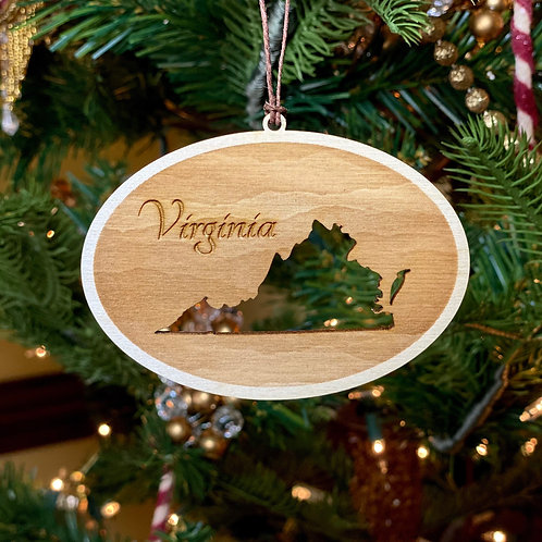 6 - Virginia Cutout Ornament