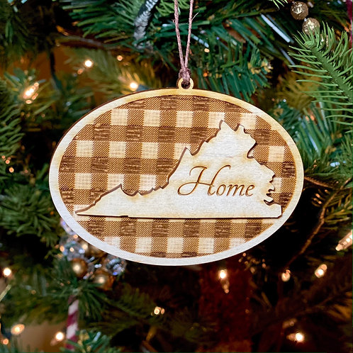 6 - Virginia Home Buffalo Check Ornament