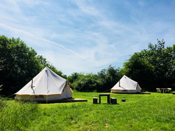 Bell tents together