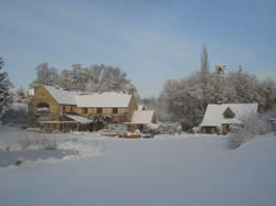 House and Lodge in snow