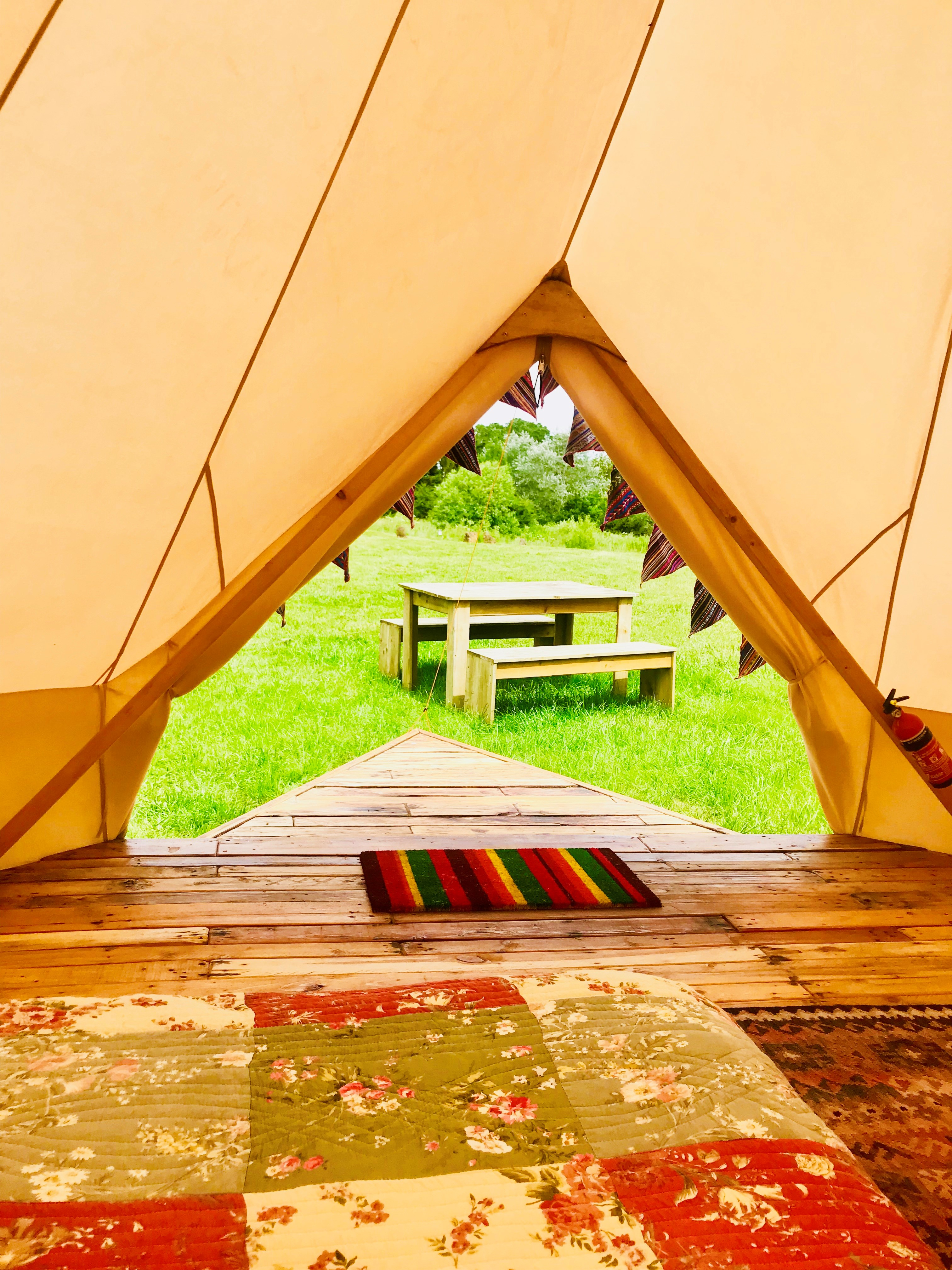 bell tent view