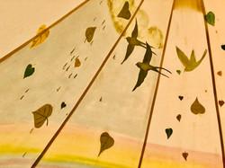 Birds in Bell Tent
