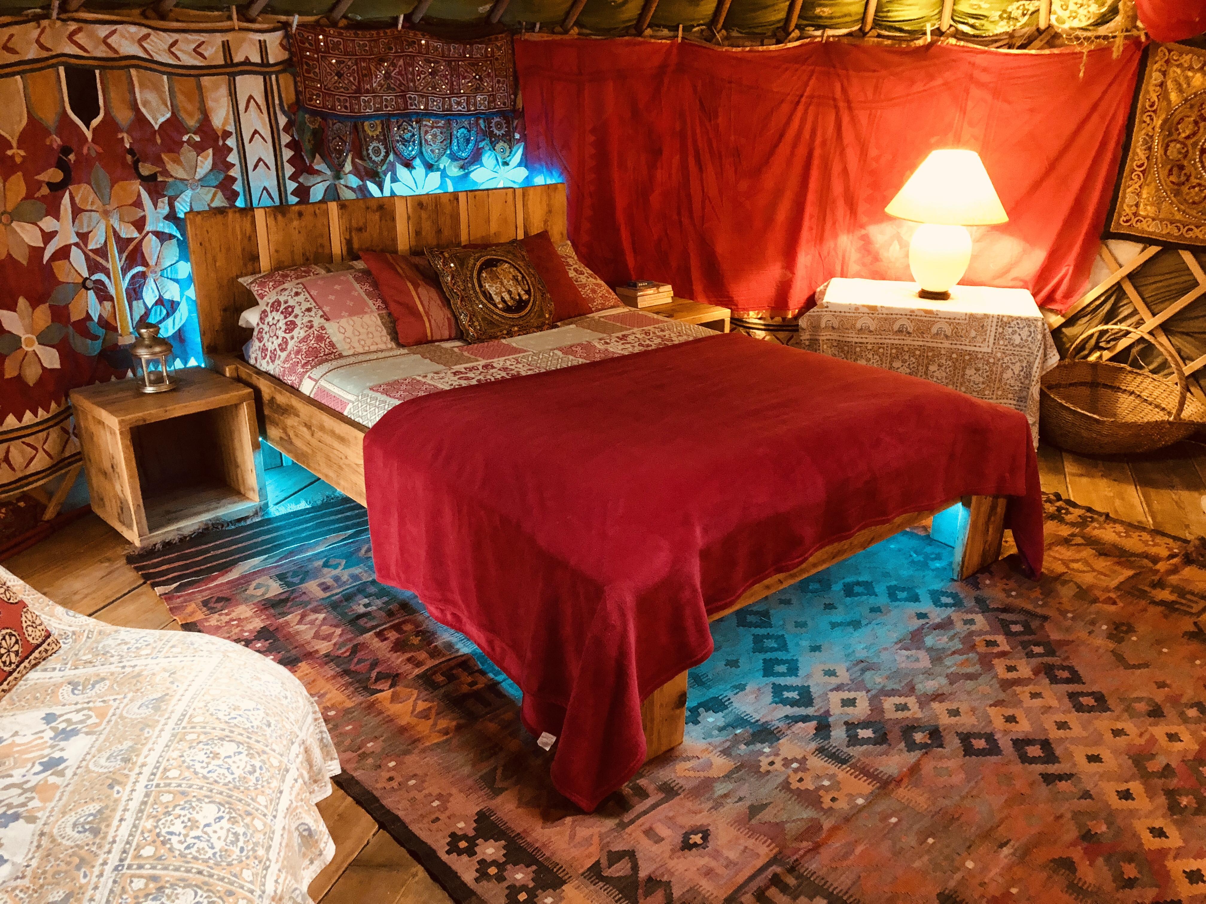 Yurt double bed