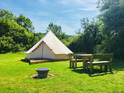 Bell tent table June 2018