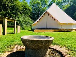bell tent fire pit June 2018