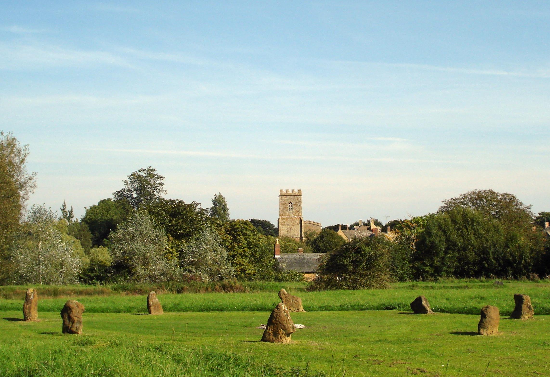 Stone circle and church enhanced  (3)