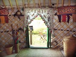 Yurt entrance