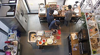 Top down picture of Fortitude Culina crew working in the kitchen