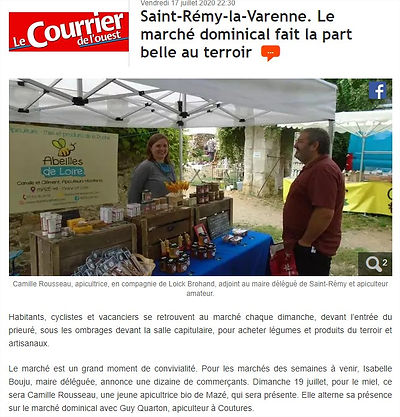 ARTICLE - 2020-07-17 - COURRIER DE L'OUE