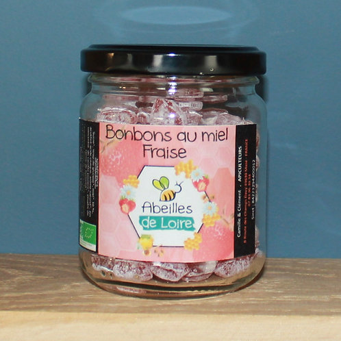Bonbons au miel - Fraise Bio - 150g