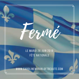 Congé -Fête Nationale
