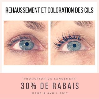 Promotion de lancement: Rehaussement & coloration des cils
