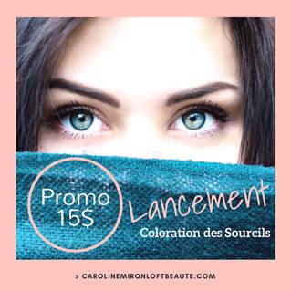 Lancement: Coloration des sourcils