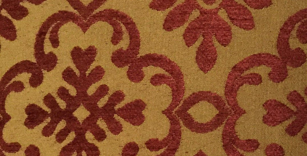 Woven Red Gold Medallion