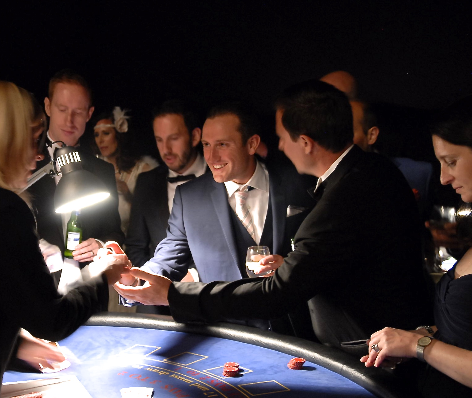 photo website hands out to croupier