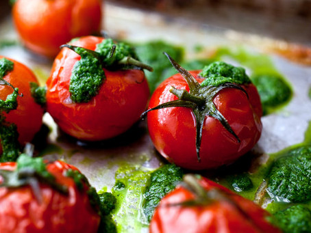 Slow-Roasted Cherry Tomatoes With Basil.