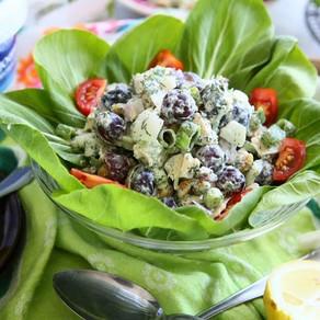 Chicken & Buk Choy Salad with Yogurt Dressing
