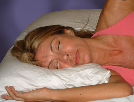 Aging effects of side sleeping