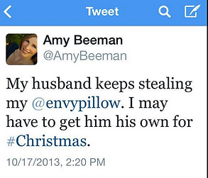 Amy Beeman loves enVy pillow