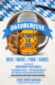 Stone Church Brewing O'Mara Entertainment music booking agent web graphic design logo