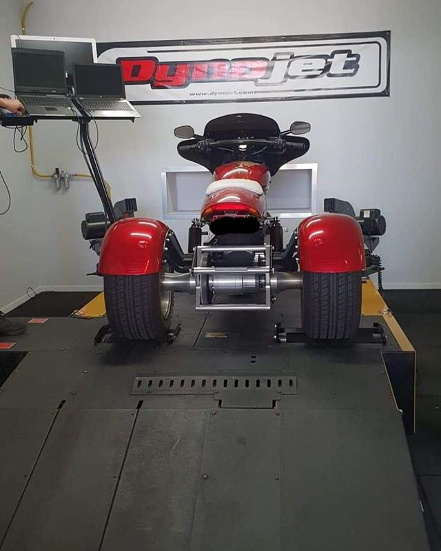 Our Dynojet 250ix easily fits most quads/trikes/sidecars