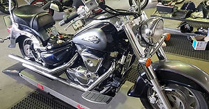 Suzuki Intruder in the workshop to corre
