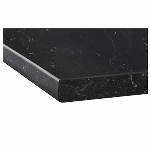 Arbeitsplatte schwarzer Marmor Dekor
