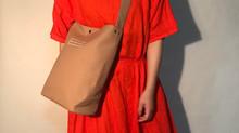 帆布のショルダーバッグ minimal plus / Pink beige