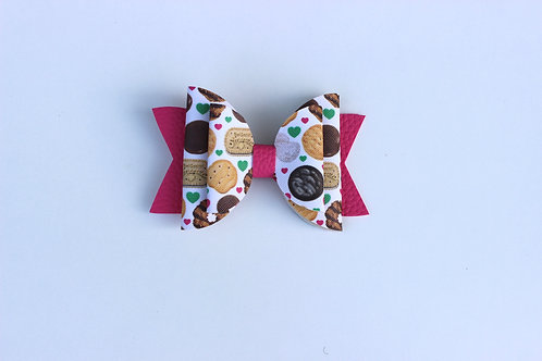 Cookies Bow Clip