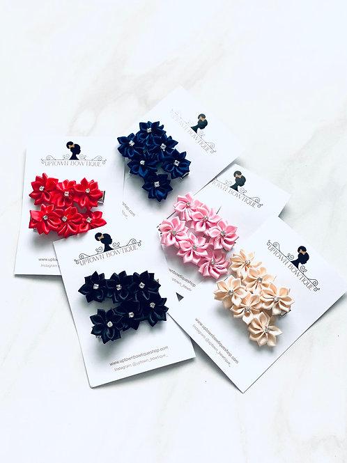Eliza Floral Clip Set