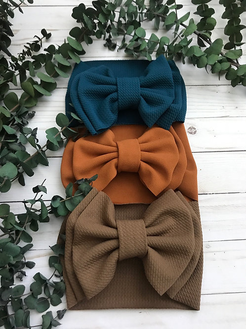Double Bow Headwrap (Solids)