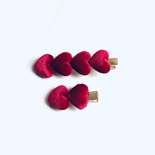 Luxe Hearts Set - Ruby Red