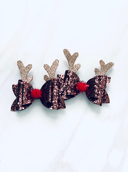 Reindeer Bow Set - 2pc