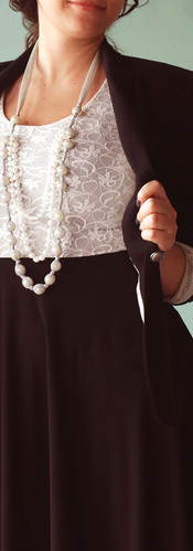 An Elegant Necklace With Beads