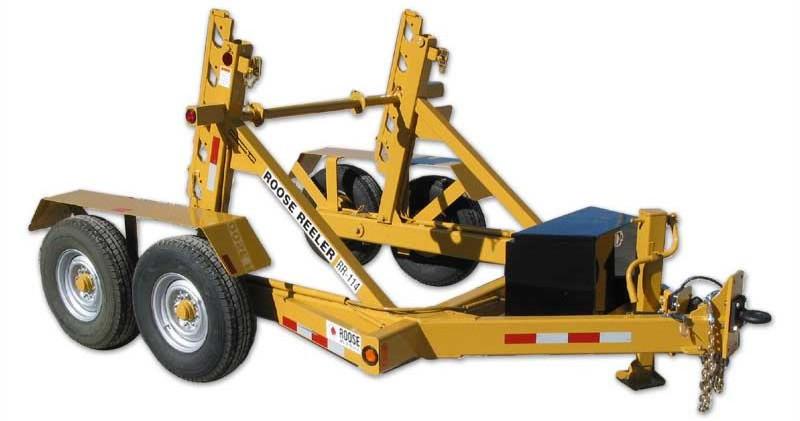 rr-114 single reel trailer - 14,000 lb c