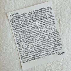 Handwritten Vows