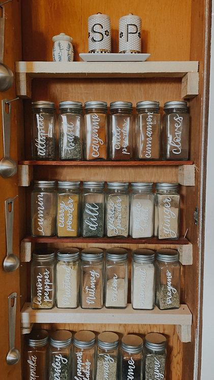 Glass Spice Jar Set of 24