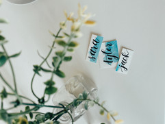 Blue Serene Place Cards