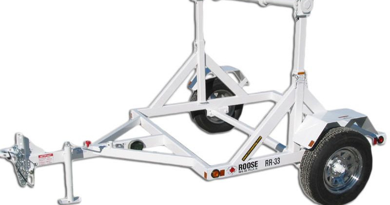 rr-33 single reel trailer - 2,000 lb cap